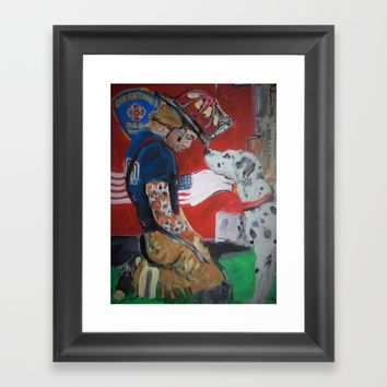 San Antonio Fire Fighter Framed Art Print by Tony Silveira