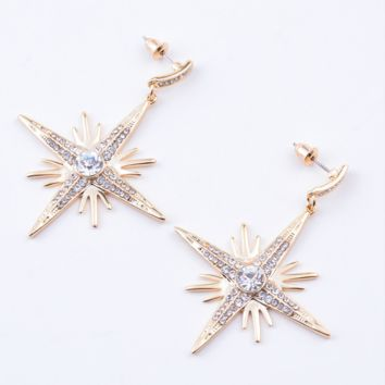 New jewelry fashion retro personality earrings pearl diamond stud earrings