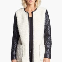 Vince Camuto Faux Shearling & Faux Leather Coat | Nordstrom