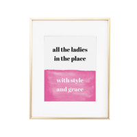 Style and Grace Art Print