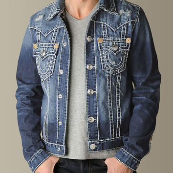 MENS JIMMY SUPER T DENIM JACKET  -  Outerwear | True Religion Brand Jeans