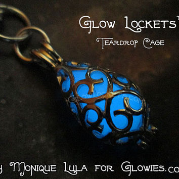 Mermaid Tear Glow Locket® Necklace Glows in the Dark