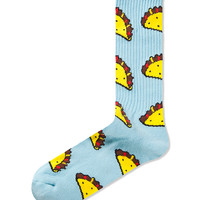 Light Blue Taco Sock
