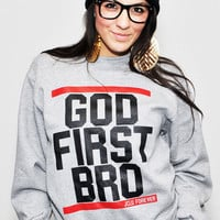 JCLU Forever Christian t-shirts WWW.JCLUFOREVER.COM — OXFORD-GODFIRST-SWEATER