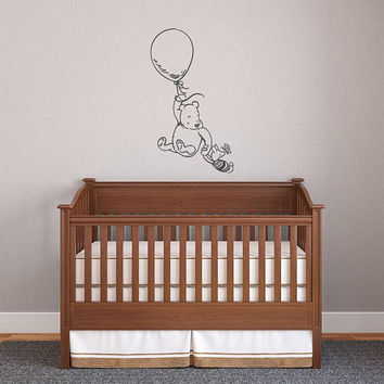 Winnie The Pooh & Piglet Characters Wall Decal, Pooh Bear Nursery Wall Decal, Winnie The Pooh Baby Wall Decal, Classic Pooh Wall Decal K180