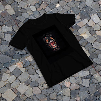 """THE SAMPLE size of the print image on the T-Shirt 12""""x16"""" Givenchy Rottweiler"""