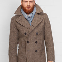 Herringbone Pea Coat