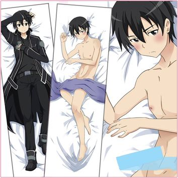 Anime SAO GGO Gun Gale Online Kirito Dakimakura BL Hug Body Pillow Cover Case
