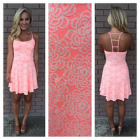 Lace Ladder Back Dress