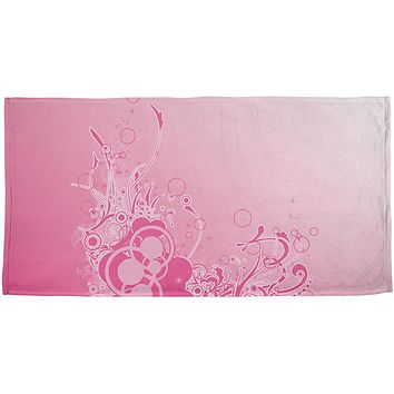 Pink Ombre Day Dream All Over Beach Towel
