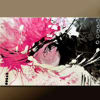 Abstract Art Painting on Canvas Original 36x24 Contemporary Fine Art by Destiny Womack - dWo - Beautiful Disasters