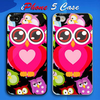 Cute Owls Custom iPhone 5 Case Cover from namina