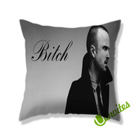 Jesse Pinkman Bitch Square Pillow Cover