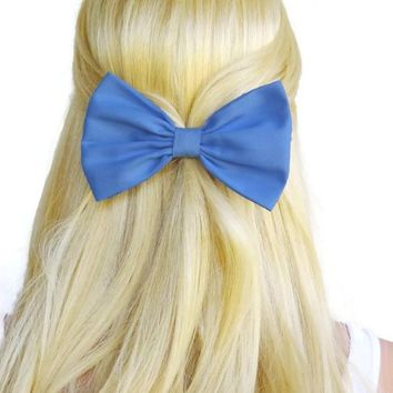 Periwinkle Blue Hair Bow Clip Handmade By Sweet in the City