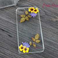 iPhone 6 case, Real pressed flowers Phone case, iPhone 6 Plus, iPhone 5S case, iPhone 5c case, samsung s5 case, Note3 case, Phone case-F29