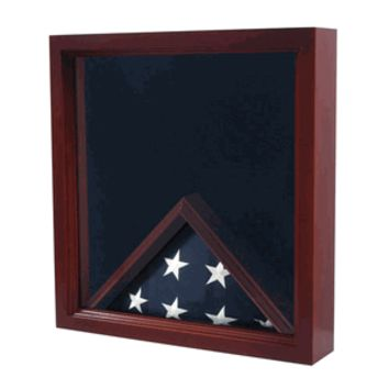 Medal And Award Flag  Display Case - Shadow Box Hand Made By Veterans