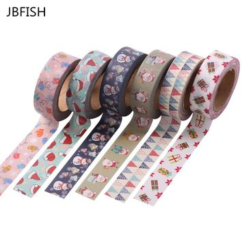 JBFISH  1.5cm x 10m Merry Christmas Deer Washi Paper Masking Tapes Decorative Tape Scrapbooking Stickers Diary Decals  2038