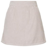 MOTO Cord A-Line Skirt - Pink