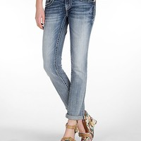 Miss Me Cross Cuffed Straight Stretch Jean