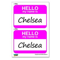 Chelsea Hello My Name Is - Sheet of 2 Stickers