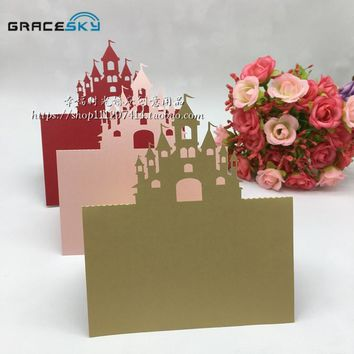 Castle Wedding invitation Table Paper place cards