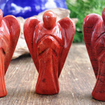 Red Jasper Crystal Angel ~ Hand carved crystal figurine perfect for Energy Balancing, Feng Shui, and Crystal Grids ~ SR11
