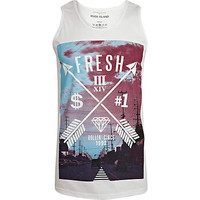 White fresh arrow print tank - tanks - t-shirts / tanks - men