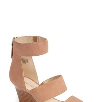 Women's Nine West 'Risk Taker' Wedge Sandal,