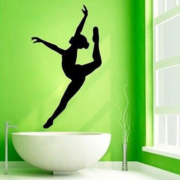 Wall Decals Ballet Girl Gymnast Dance Gym Vinyl Sticker Murals Wall Decor KG202