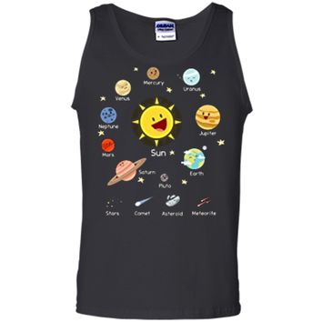 Solar System with Sun Planets Comets and Earth T Shirt Tank Top
