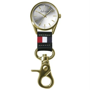 Dakota Classic Dress Clip Watch-Gold Case-Nautical Fob