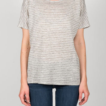 Objects Without Meaning - Basia Tee in Platinum Stripe