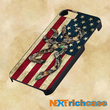 Browning Deer Camo American Flag Design For iPhone, iPod, iPad and Samsung Galaxy Case