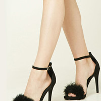 Faux Suede Ankle Strap Heels