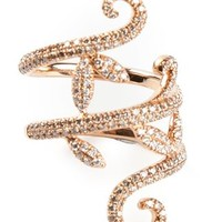 Elise Dray Diamond Pavé Demi Flower Ring - Jewellery Atelier - Farfetch.com