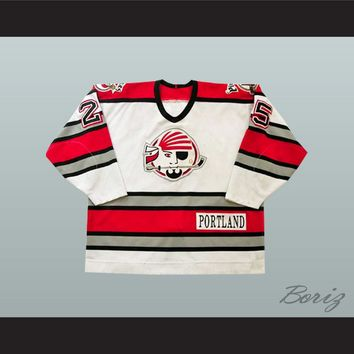 Enrico Ciccone 25 Portland Pirates White Hockey Jersey