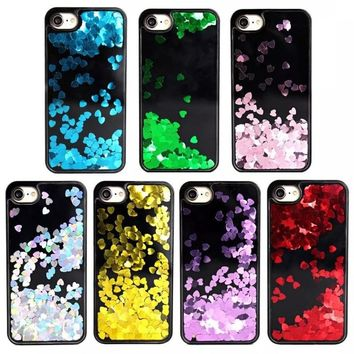 RC Turtle™ - Liquid Glitter Sand Love Heart Case For iphone X 8 8Plus 7 8 7Plus Bling Back Case Cover for iPhone 6 6s Plus Cell Phone Cases