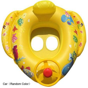 Baby Kid Swimming Ring Inflatable Infant Floating Kids Swim Pool Accessories Circle Bathing Inflatable Double Raft Rings Toy