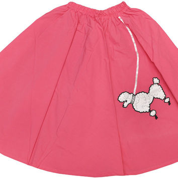 girl's costume: poodle skirt - pink