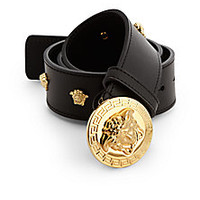 Versace - Medusa Logo Leather Belt - Saks Fifth Avenue Mobile