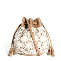 New Look | New Look Mini Crochet Duffle at ASOS