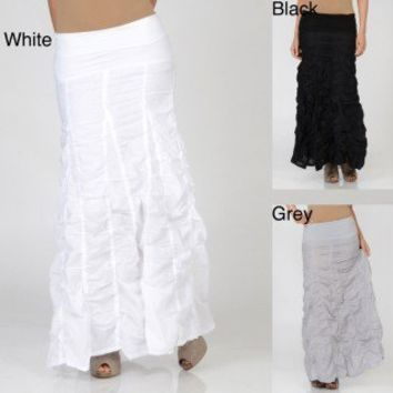 Elan Women's Long Voile Bubble Skirt | Overstock.com
