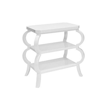 Worlds Away Olive Three Tier Table