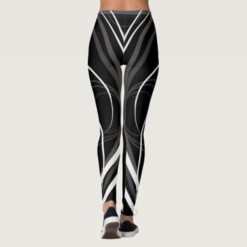 Zebra grey and white leggings