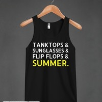 Summer It Up-Unisex Black Tank