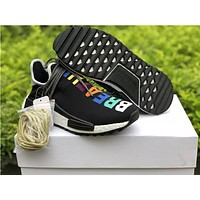 Pharrell Williams x adidas Originals Hu NMD  Black Running  Sneaker
