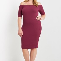 Heartbreaker Off The Shoulder Dress Plus Size