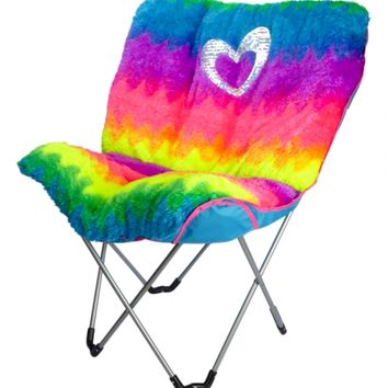 Faux Fur Rainbow Butterfly Chair | Girls Room Decor Beauty, Room & Tech | Shop Justice