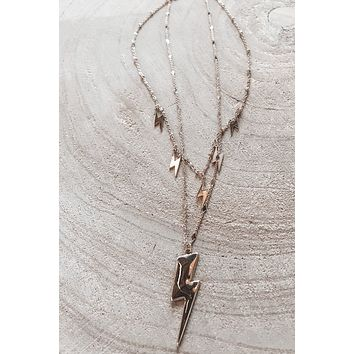 Lost In The Lights Lightning Bolt Necklace