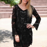 LACE MOMENT DRESS , DRESSES, TOPS, BOTTOMS, JACKETS & JUMPERS, ACCESSORIES, 50% OFF SALE, PRE ORDER, NEW ARRIVALS, PLAYSUIT, COLOUR, GIFT VOUCHER,,LACE,Brown,Black,LONG SLEEVES Australia, Queensland, Brisbane